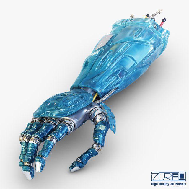 Bio robotic hand v 1 3D Model .max .c4d .obj .3ds .fbx .lwo .stl @3DExport.com by Zurel