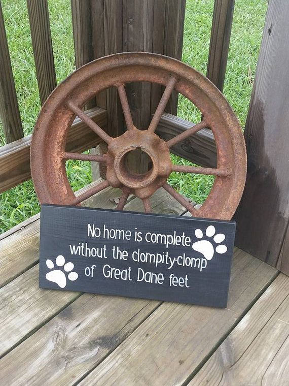 Wooden Dog Sign No Home is Complete by RusticLaneCreations