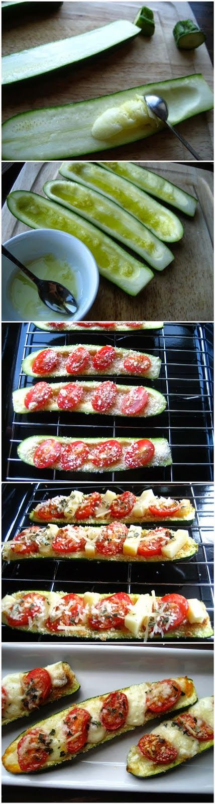 Veggie Zucchini Boats ~ Easy Kitchen 4 All - no bread crumbs needed. GF