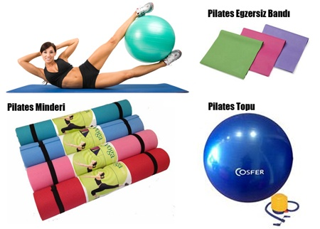 Cosfer Pilates Topu   Minderi   Egzersiz Bandı Set 29,90 TL