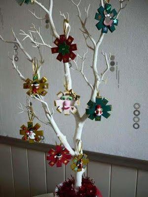 más y más manualidades: Crea hermosos adornos navideños con tubos de cartó...
