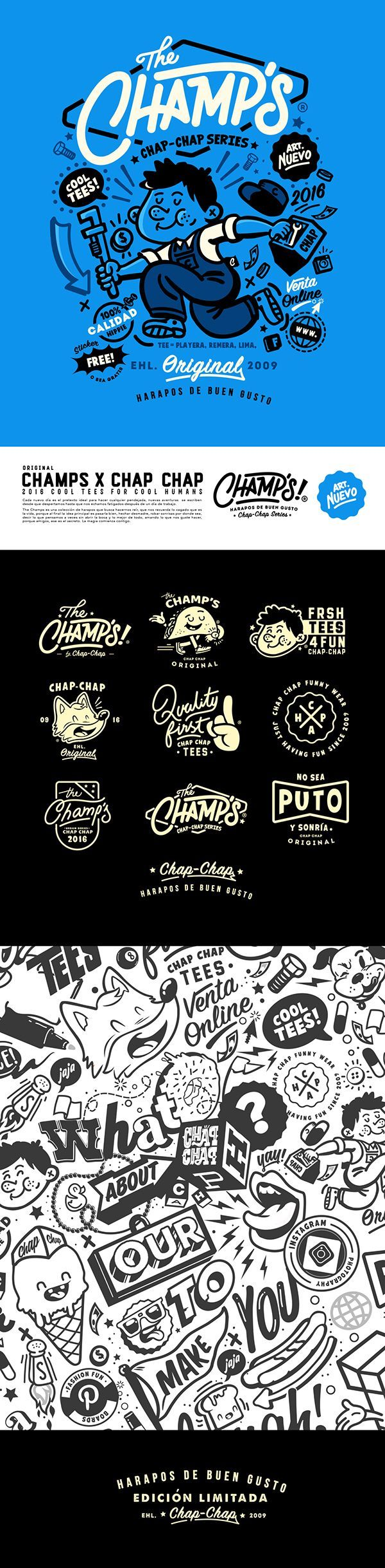 The Champs logo. Funky, playful and authentic. | Cafe advertising | Restaurant Branding | Visual Identity | Hospitality design | Menu design | Ideas Logo | Hospitality Branding | Brand Design | Coffee shop branding | Restaurant Marketing | Coffee shop | Campaign restaurant | Campaign Café | Café logo | Hospitality Logo | Restaurant Logo | Hotel Logo | Food logo