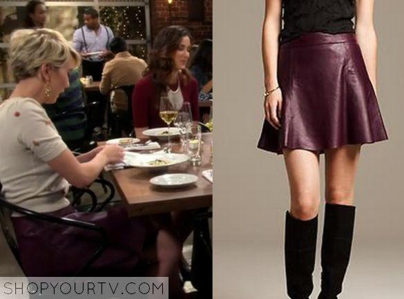 Baby Daddy: Season 4 Episode 14 Riley's Burgundy Leather Skirt
