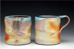 Chris Baskin  - soda fired cofee mugs