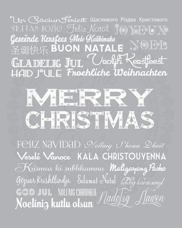 best happy christmas in many languages images  christmas around the world art print the paper parlour com