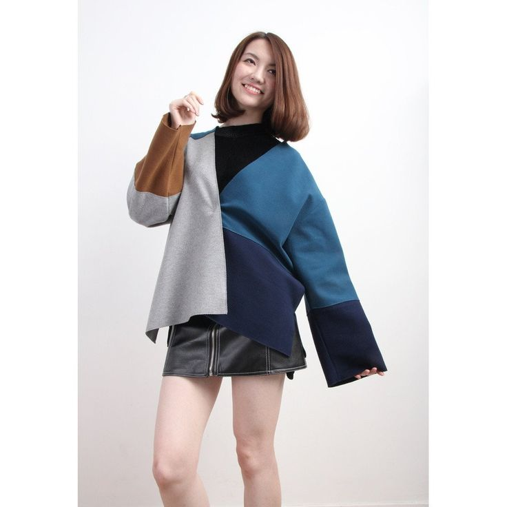Color Blocking Boxy Flannel Jacket