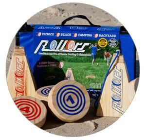Rollors is the next great outdoor yard game for the entire family. Rollors combines the fun of Bocce, bowling & horsesshoes into one game.