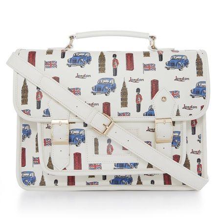 primark celebrates britain with bags - london bus satchel - shopping bag - handbag
