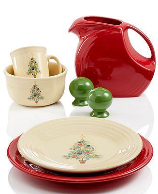 Fiesta Dinnerware, Christmas Tree Collection - Fiesta Dinnerware - Dining & Entertaining - Macy's