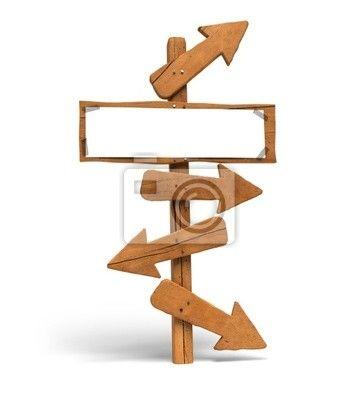panneau indicateur flèches  à faire moi-même avec chutes de bois pour l'escalier