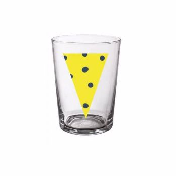 Yellow Rio Beer Glass: Yellow Rio beer glass. Iconic and passionate with an 80's inspiration, colourful influence and eclectic design.