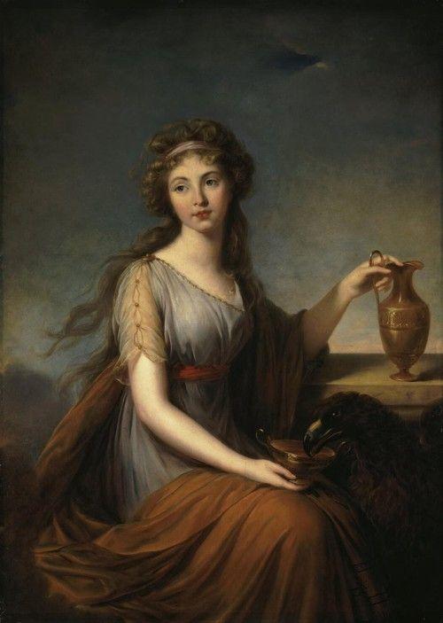 titam:  Portrait of Anna Pitt as Hebe, 1792, by Élizabeth Louise Vigée-Lebrun
