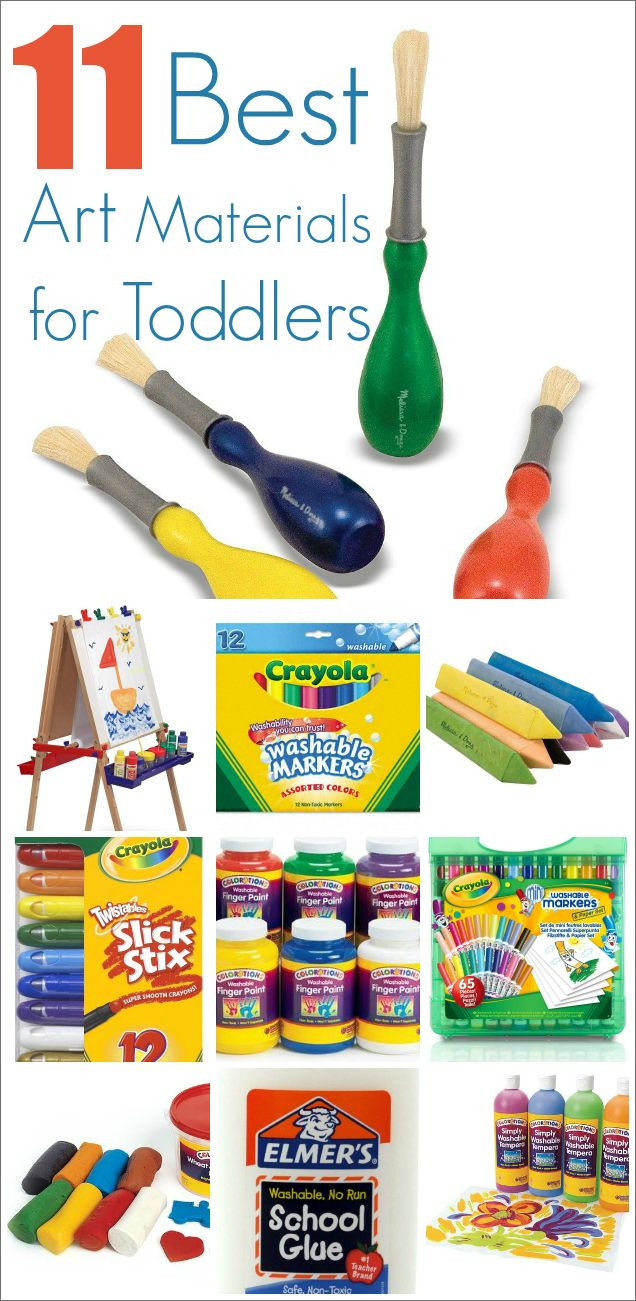 Forget Crayons :: 11 Best Art Materials for Toddlers