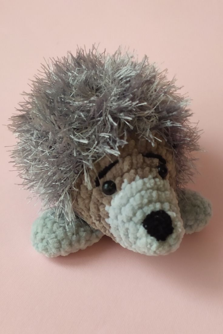 Small Fluffy Grey Crochet Hedgehog Toy Newborn Baby Plush Toy Stuffed Animals Baby Shower Gift Baby Plush Toys Crochet Hedgehog Pet Toys [ 1102 x 735 Pixel ]