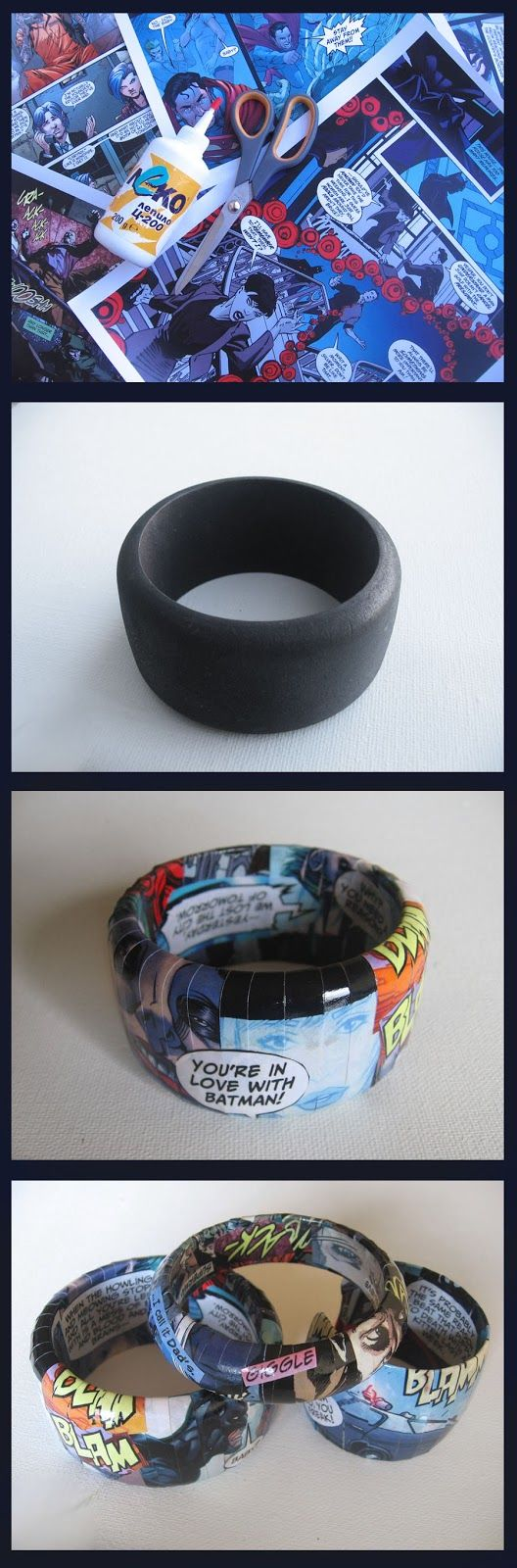 DIY comic book Bangles