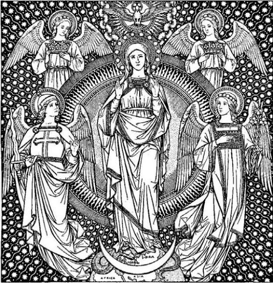 Line Drawing Virgin Mary : The immaculate conception catholic line art pinterest