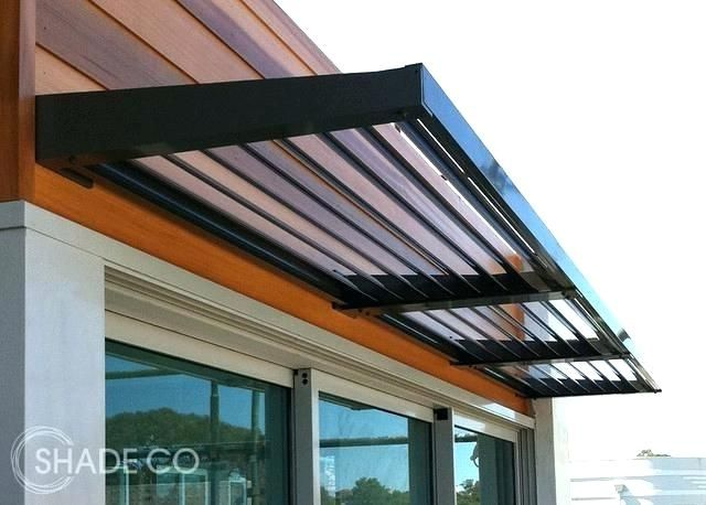 A Flat Metal Roof Contemporary Awnings Metal Awnings For