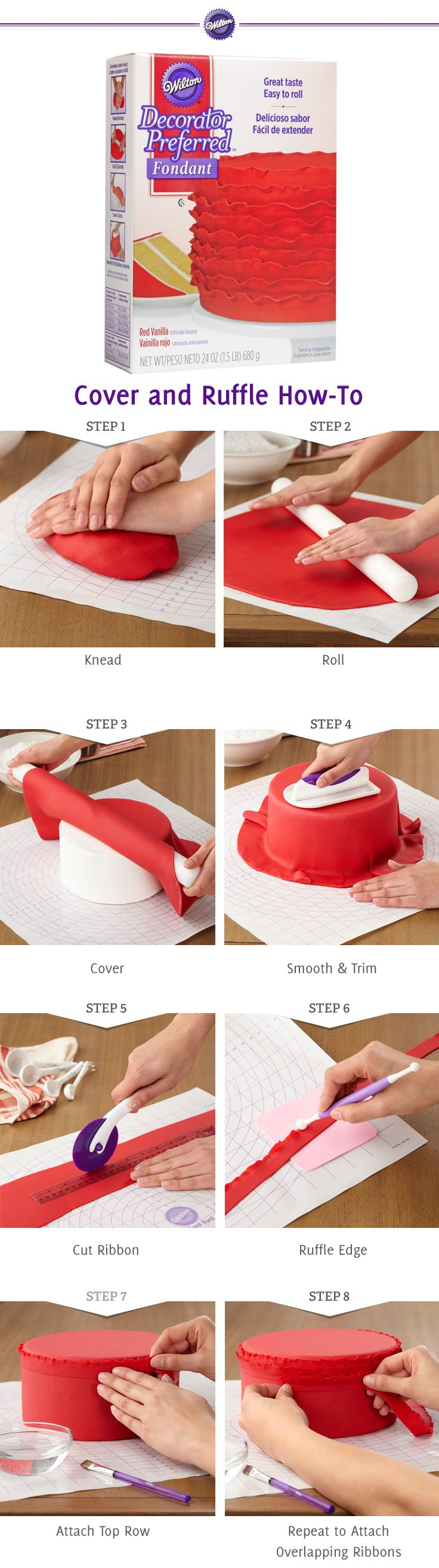 Create Ruffles with Fondant  Wilton Cake Decorating Kit