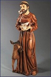 24'' Wood Carved Resin St.Francis Statue $210.95