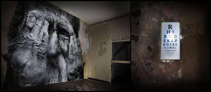 #ChromeSurgery #Rudere #AbandonedSpace #Poster #OldPeople #MuralsInstallation #Sicily