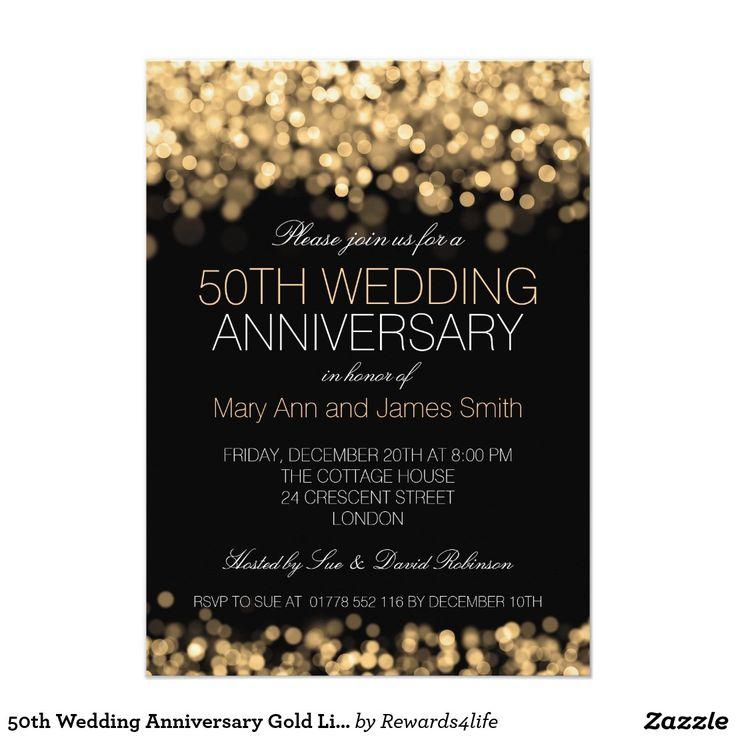 The 200 best Gold Invitations images on Pinterest | Golden wedding ...