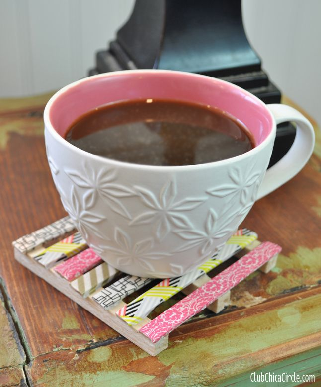 Washi Tape Mini Wood Pallet Coasters