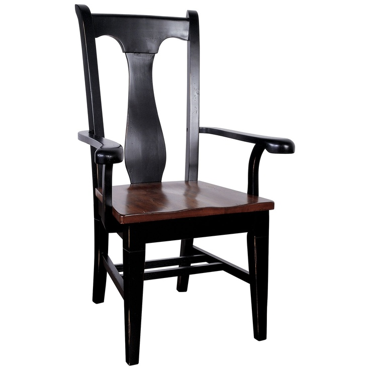 $200 Riverside Dining T-Back Arm Chair - 2 Pack