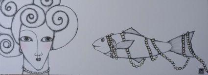 LAURA LEITA Illustrazioni / Disegni : ti piacciono le mie perle