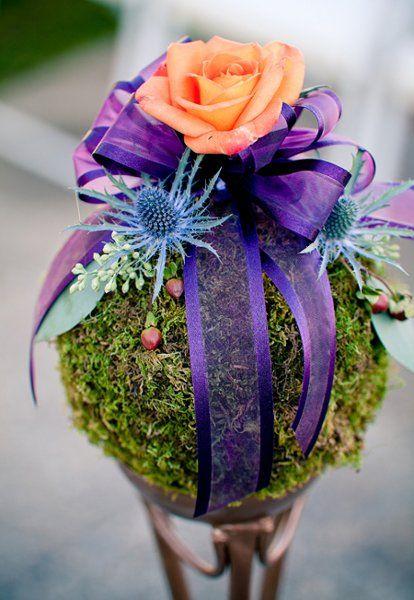 Pom Aisle Markers Wedding Ceremony Photos on WeddingWire