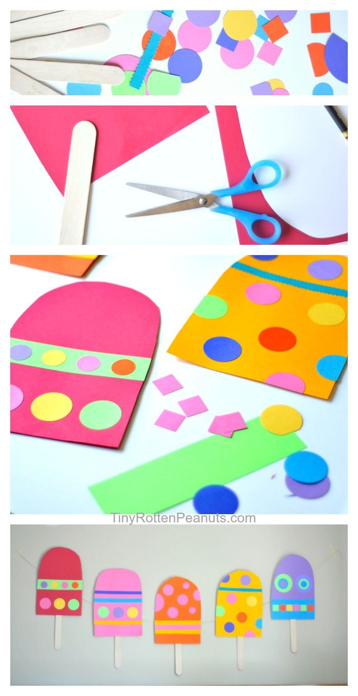Make some giant paper popsicles • Tiny Rotten Peanuts #papercrafts