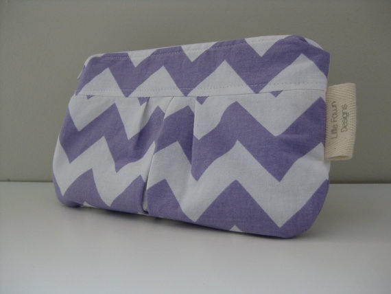 Purple Chevron Zip pouch by LittleFawnDesigns on Etsy, $15.00  'I heart #littlefawndesigns'
