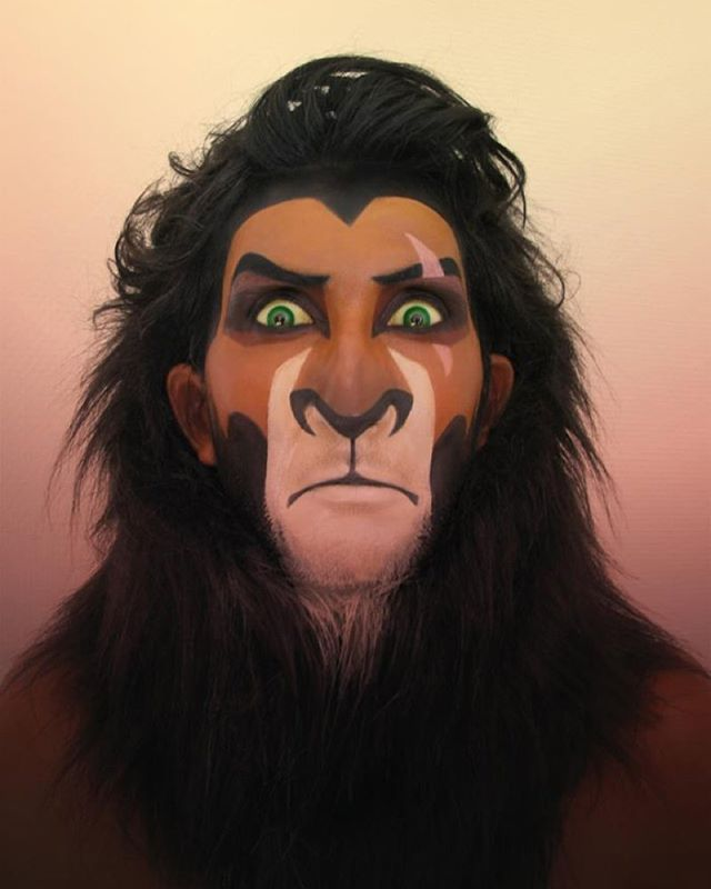 Disney villains make up Scar #disney #disneymakeup #disneyvillains…