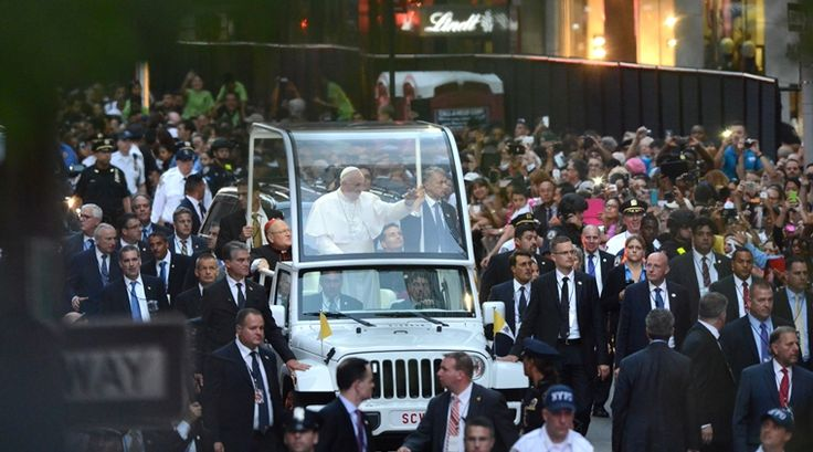 Pope Francis, after historic speech to Congress, arrives in New York