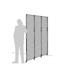 "Separè a parete CLIPPER ROLLER LIGHT ""feltro"" - cm 199x201h (3 elementi) #divisorio #openspace"