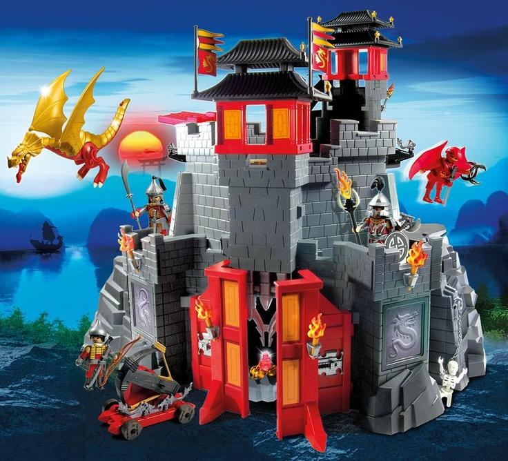 Asian dragon castle