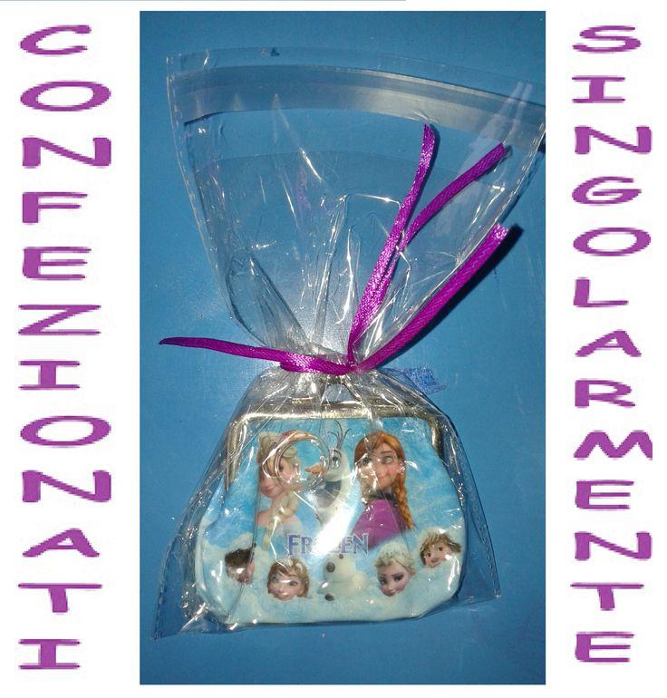 Accessori e bigiotteria Anello + portamonete Frozen. confezionati singolarmente. Gadget regalo fine festa compleanno bambina.