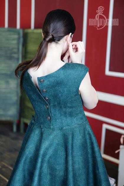 Купить Валяное платье «Forest dreams» - street style, валяное платье, платье ручной работы
