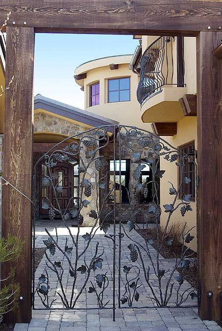 26 best images about tuscan gates on pinterest for Tuscan home plans with casitas