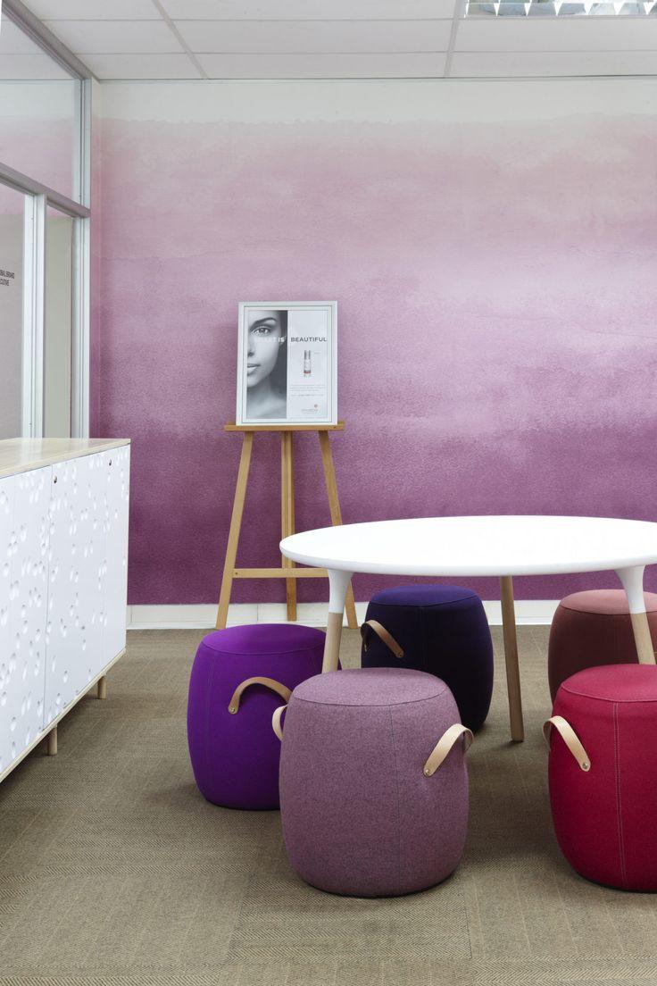 Purple meeting room, Environ Skincare Offices, Interior by Haldane Martin, photo by Micky Hoyle 15