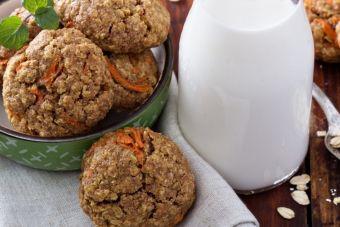 Biscuits à l'avoine, sirop d'érable et aux carottes