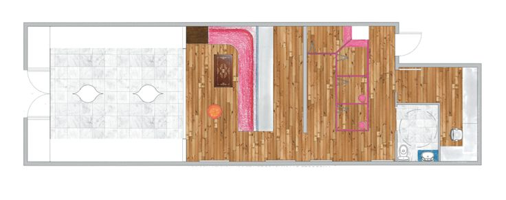 Photoshopped rendered Retail Floor Plan. NU
