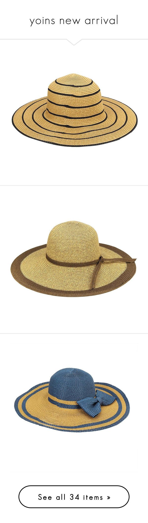 """yoins new arrival"" by yoinscollection ❤ liked on Polyvore featuring accessories, hats, floppy beach hat, floppy sunhat, summer hats, straw sunhat, floppy sun hat, straw hat, wide brim floppy hat and flop hat"