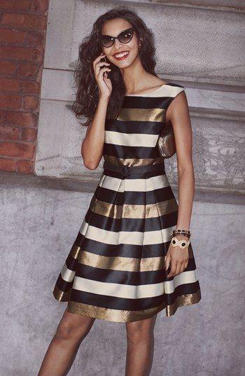 Cute striped metallic dress