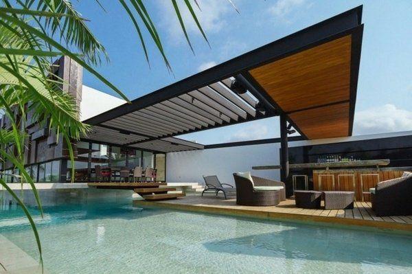 Modern pergola design pool shade ideas patio deck modern outdoor furniture house exterior