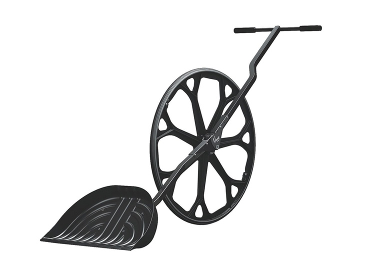 Snow Wolf Wheeled Shovel - throws snow  4' high like a snow blower.  On sale today $120
