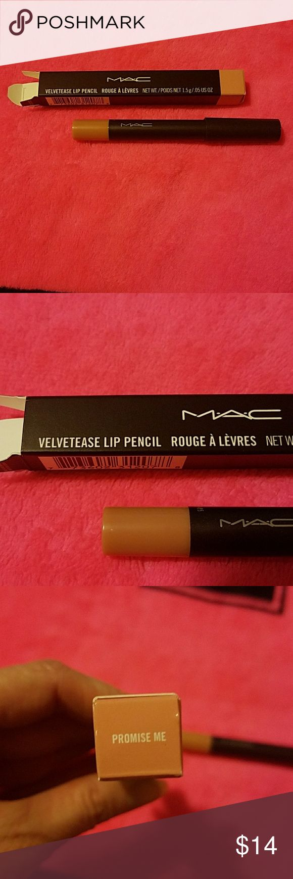 MAC  Velvetease Lip Pencil Gorgeous Nude Lip Pencil, Turns At Bottom to Self Sharpen, May Be Used Alone or With A gloss for more Shine, Last Pic is A Stock Photo From Online, Never Used or Swatched, Purchased Directly From MAC Online  Firm Unless Bundled MAC Cosmetics Makeup Lipstick