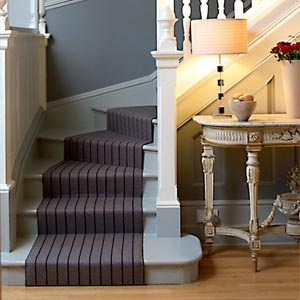 40 best think you know stair carpets images on pinterest stairs love this table lamp at the bottom of the stairs greentooth Image collections