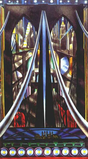 Joseph Stella, The Brooklyn Bridge: Variation on an Old Theme, 1939, Whitney Museum of American Art, New York