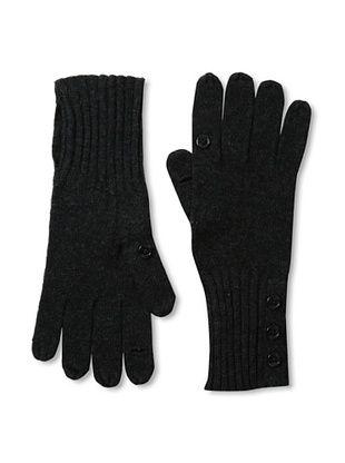 Carolina Amato Women's Button-Up Texting Gloves, Cinder