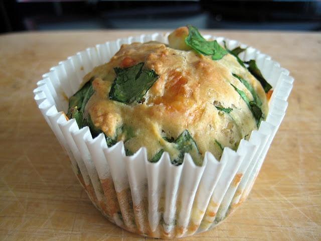 feta, cheddar, spinach muffins